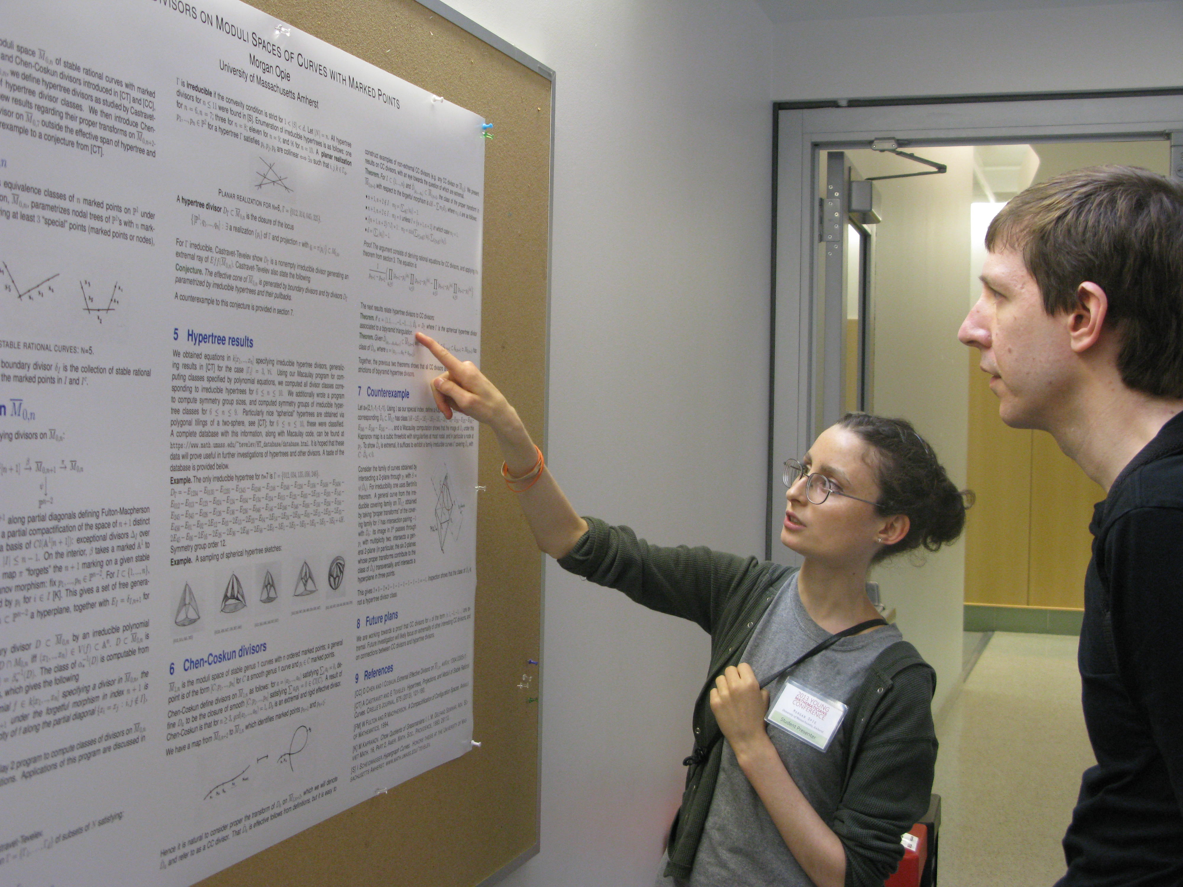 A poster presentation.