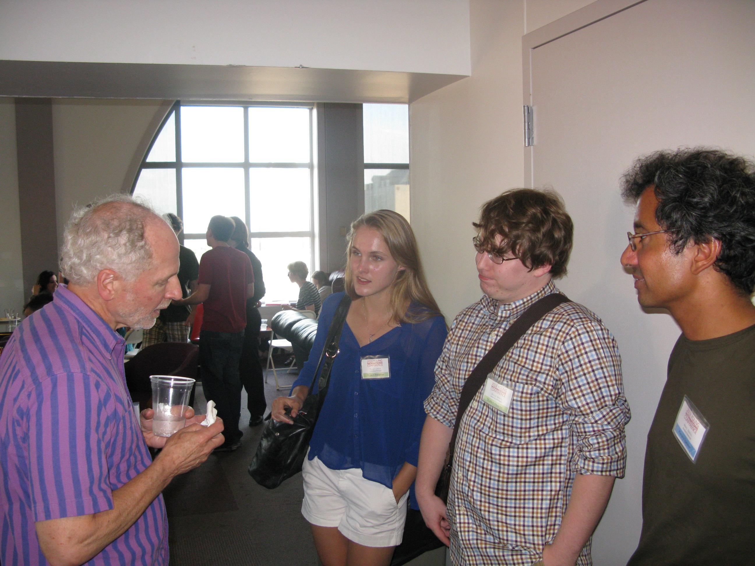 Instructors & students socializing.