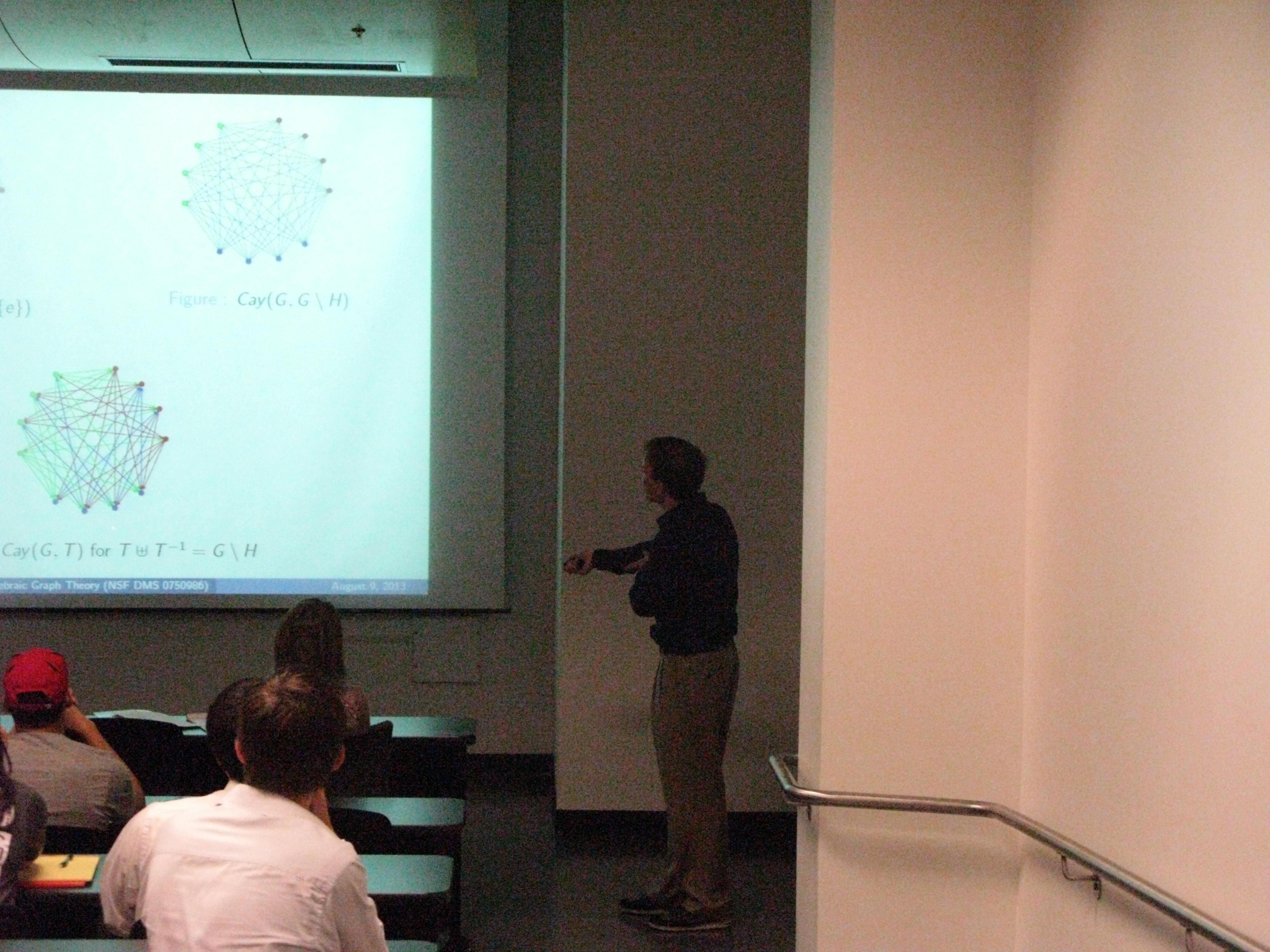 A student presentation.
